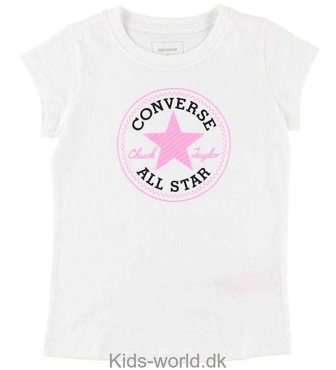 Converse T-shirt - Hvid m. Glitter Logo