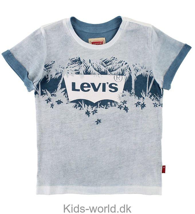 Levis T-shirt - Lyseblåmeleret m. Palmer