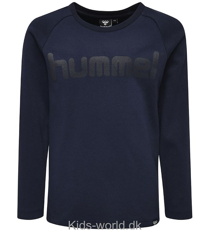 Hummel Bluse - Nolan - Navy m. Print