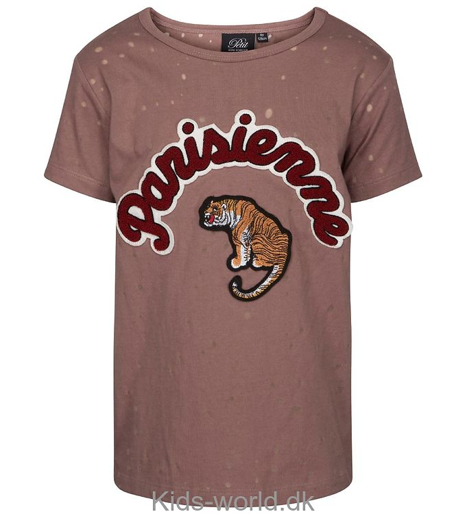8498ef0687e NYT, Petit by Sofie Schnoor T-shirt - Støvet Rosa m. Tiger