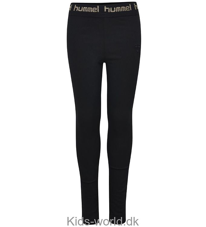 Hummel Jeggings - Iris - Sort