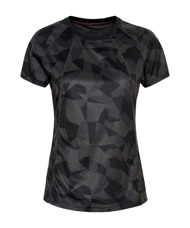 Newline Black Camo Airflow Løbe T-shirt Dame