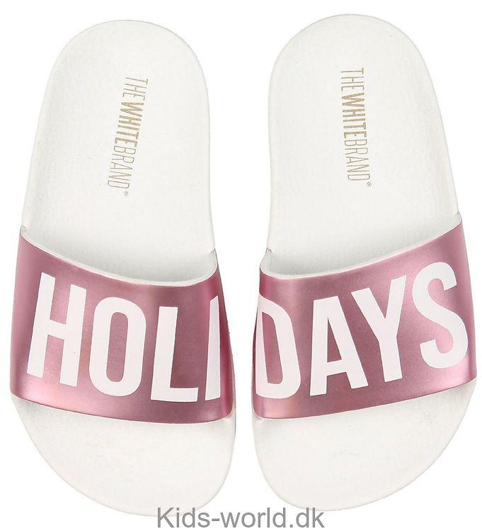 The White Brand Badesandaler - Holidays - Hvid/Metallic Pink