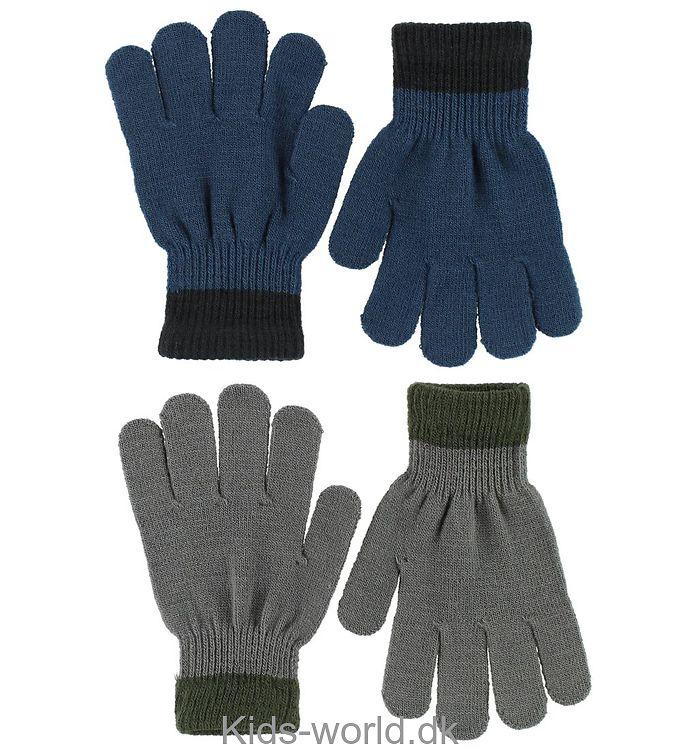 Molo 2-pak Handsker - Kello - Petroleum/Mørkegrå