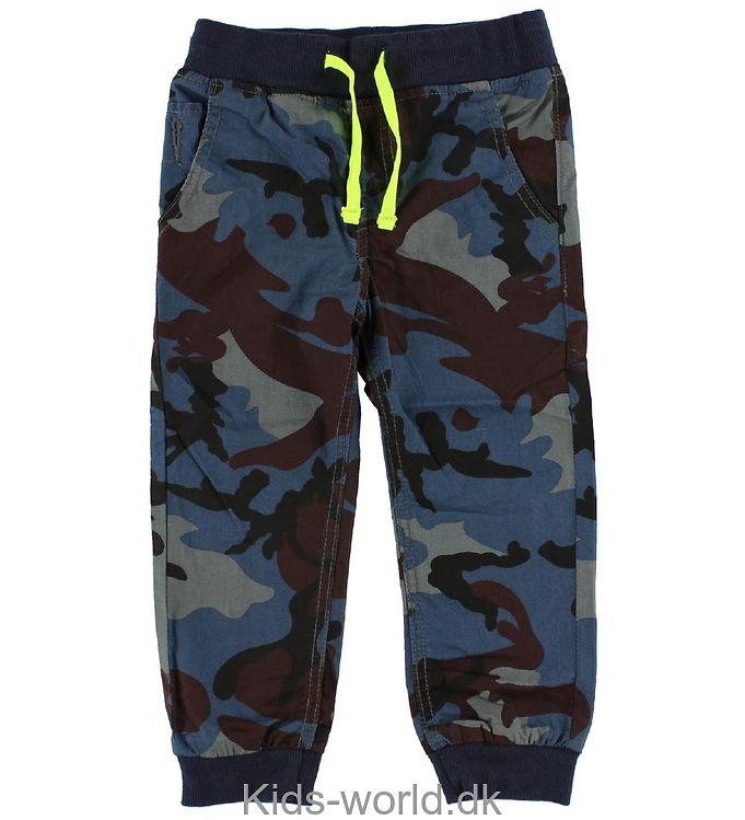 Me Too Bukser - Baggy - Blå camouflage