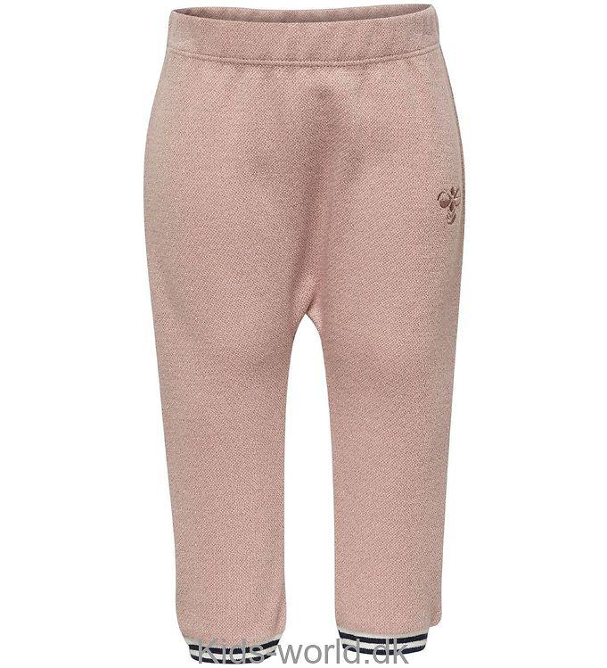 27db2b74695 Hummel Sweatpants - Ginger - Rosa m. Glimmer