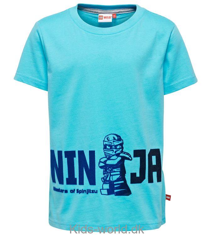 Lego Ninjago T-shirt - Thomas - Turkis m. Velour Print