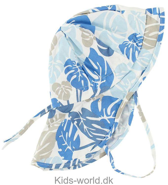 Melton Legionærhat - UV30 - Blå Blomstret