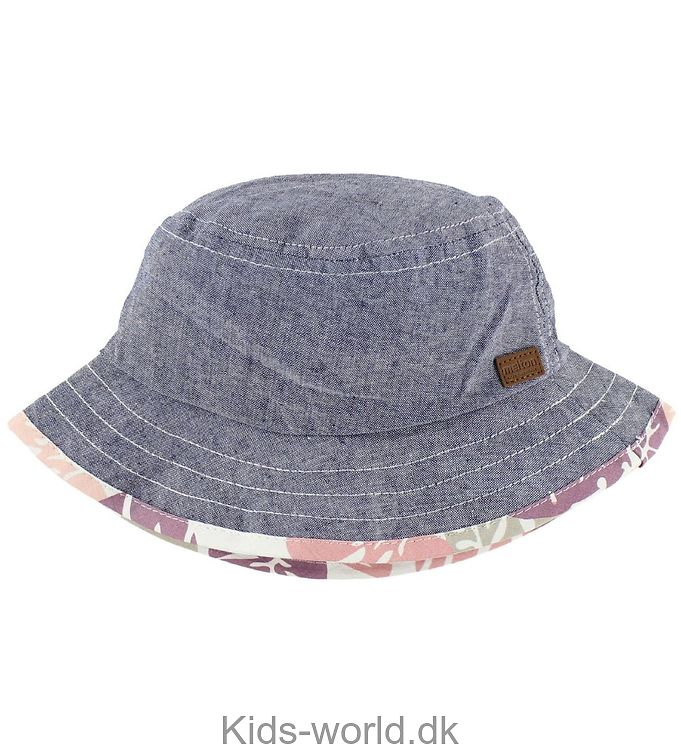 Melton Bøllehat - UV30 - Denim/Rosa