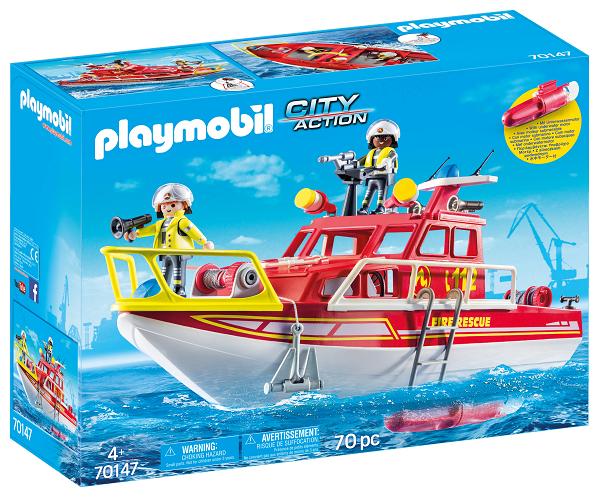 Brandvæsenets redningsbåd - PL70147 - PLAYMOBIL City Life