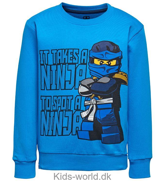 Lego Ninjago Sweatshirt - Blå m. Ninja