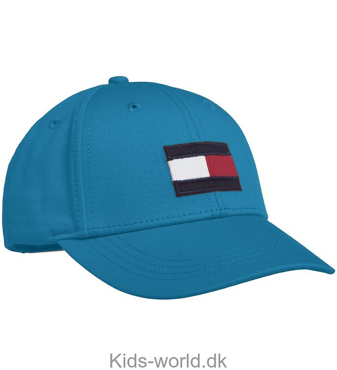 Tommy Hilfiger Kasket - Big Flag - Blå