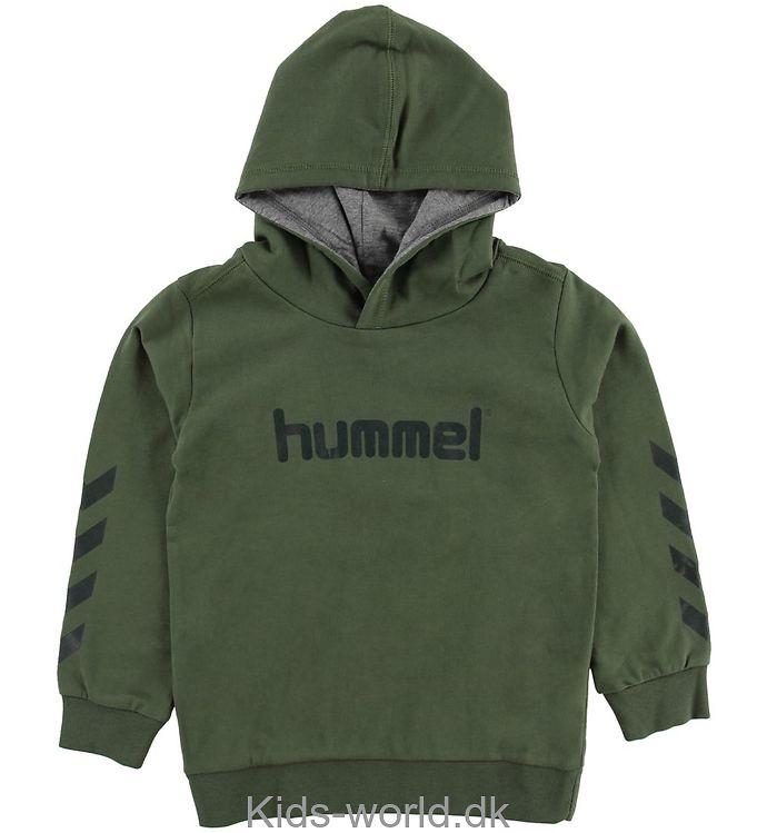 Hummel Hættetrøje - Kess - Armygrøn
