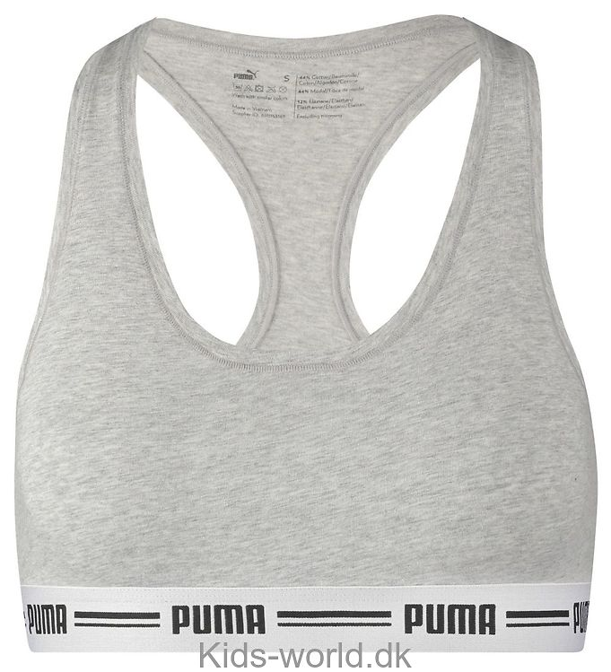 Puma top - Racer Back - Gråmeleret