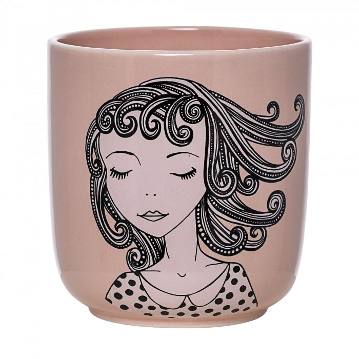 Bloomingville krukke pige, keramik (rosa)