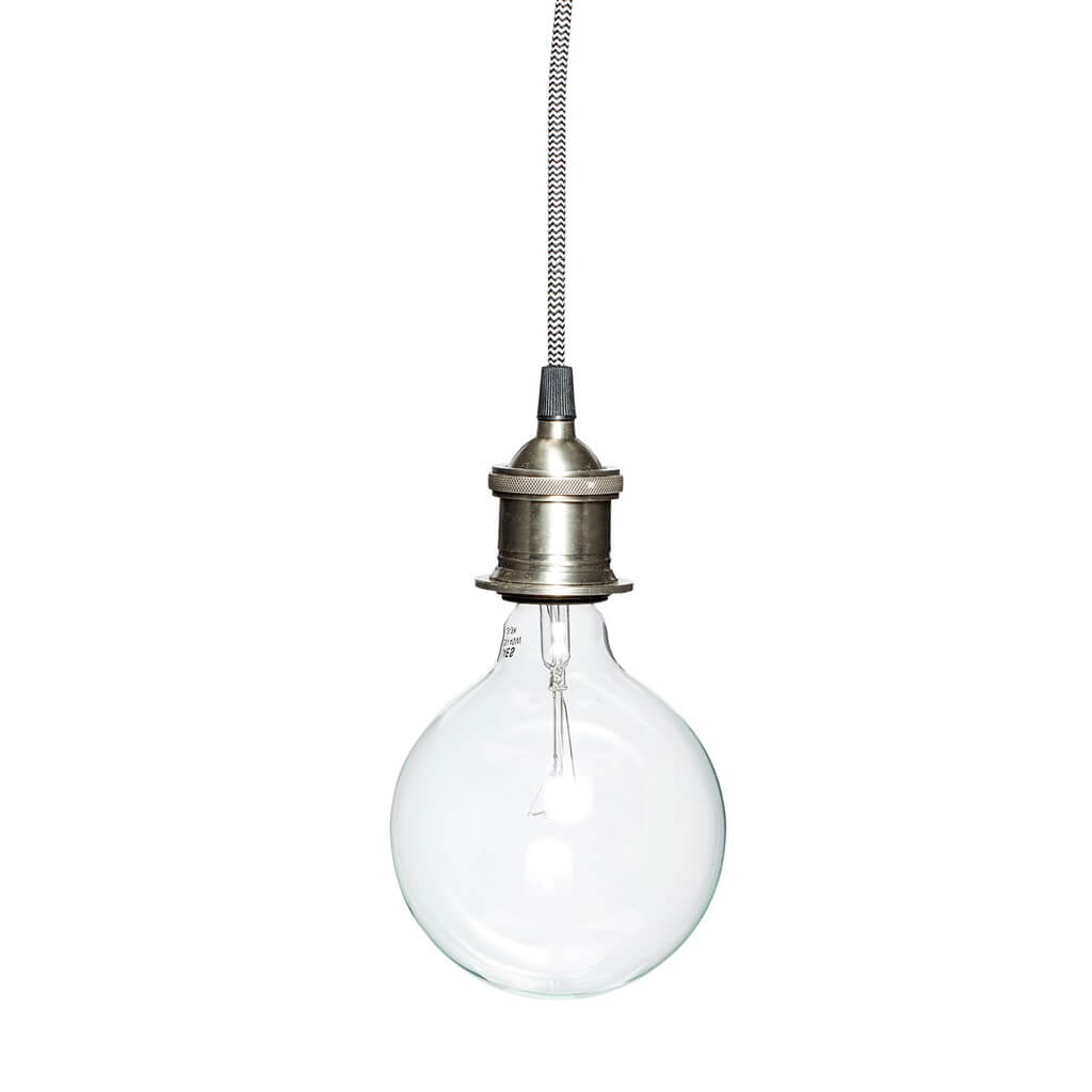 Pendel lampe sølv Hübsch