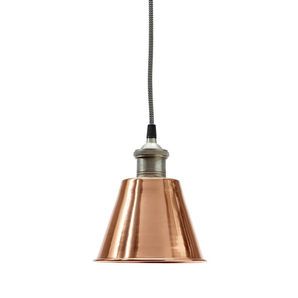 Pendel lampe metal kobber Hübsch