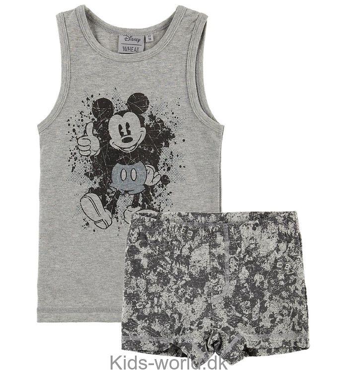 Wheat Disney Undertøj - Mickey - Melange Grey