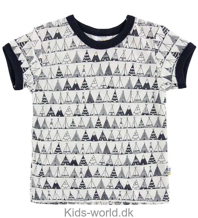 Joha T-shirt - Uld/Silke - Creme m. Telte