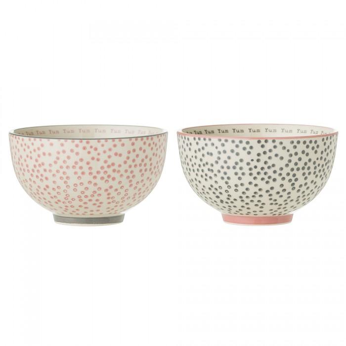Bloomingville skål (rosa/grå)