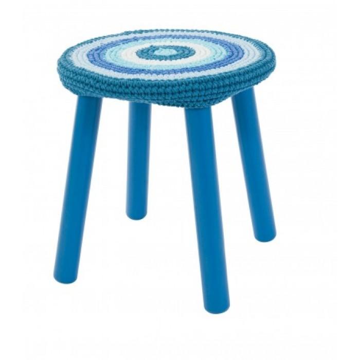 Sebra taburet (blå)