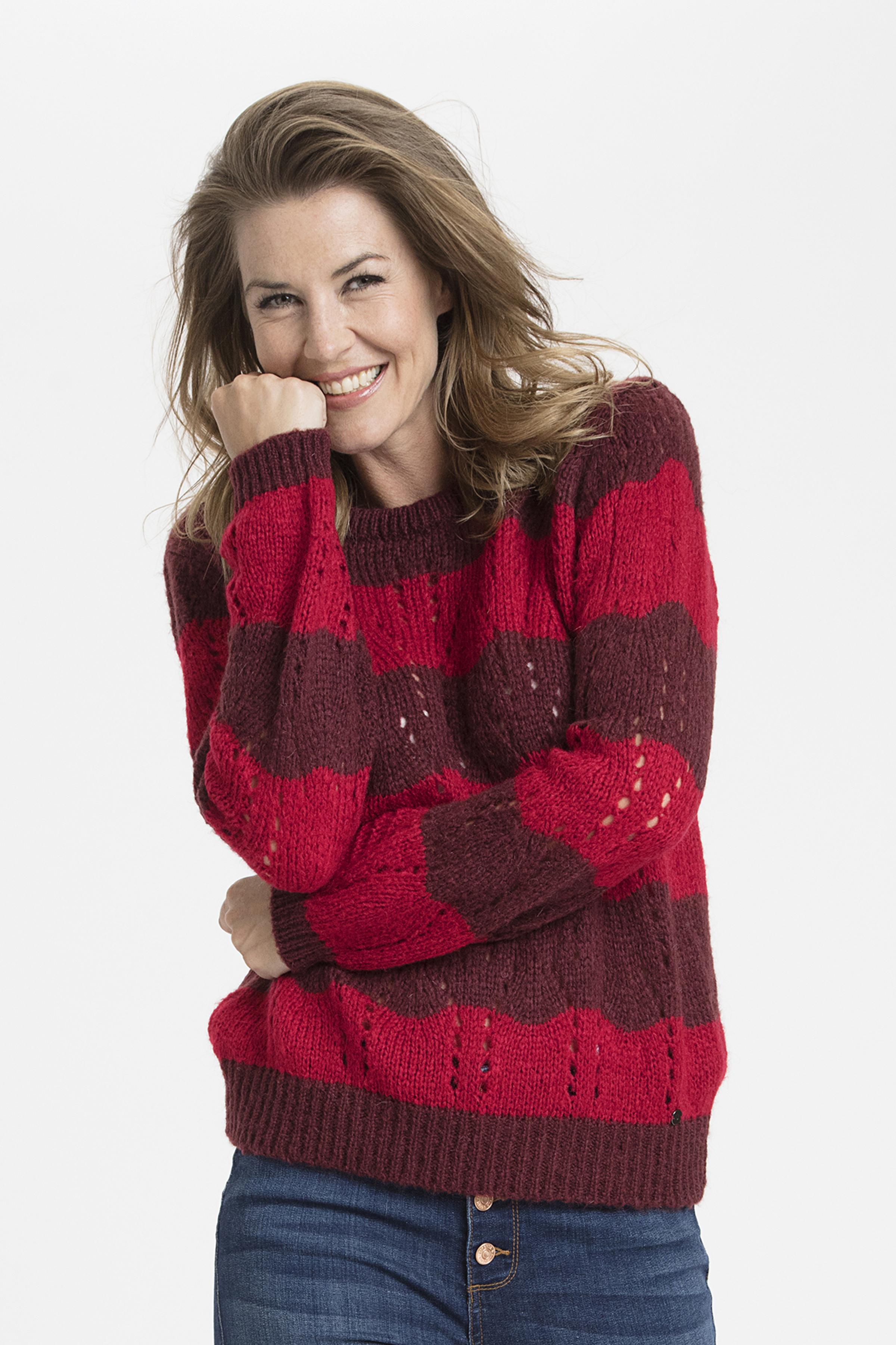 Stickad pullover