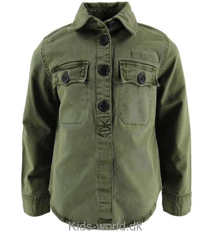 Zadig & Voltaire Skjorte - Armygrøn m. Rygpatch