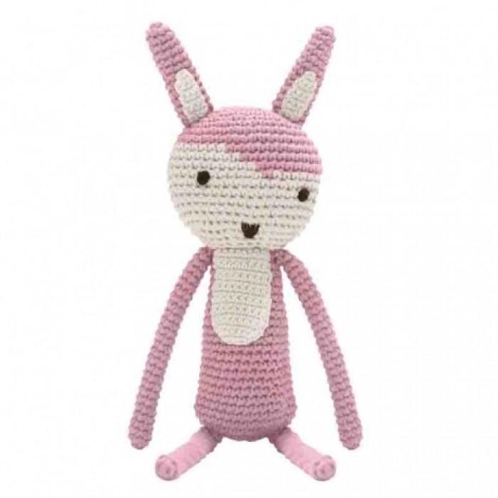Hæklet kanin (rosa)