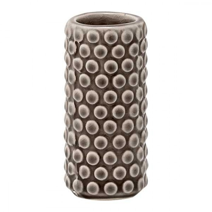 Bloomingville vase (ø4xh9 gråt stentøj)