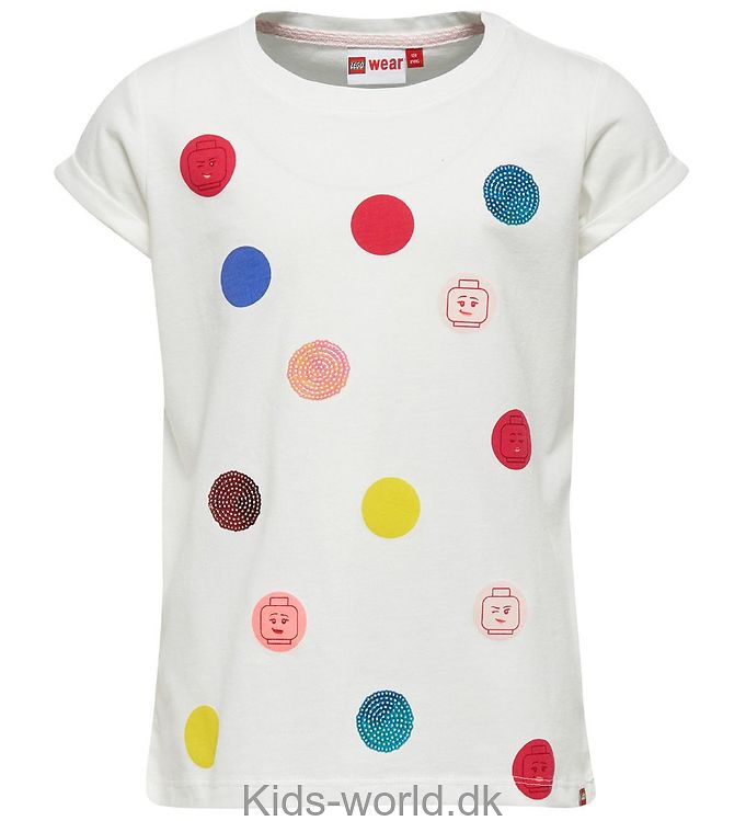 Lego Wear T-shirt - Hvid m. Prikker