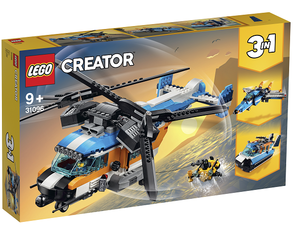 Helikopter med to rotorer - 31096 - LEGO Creator
