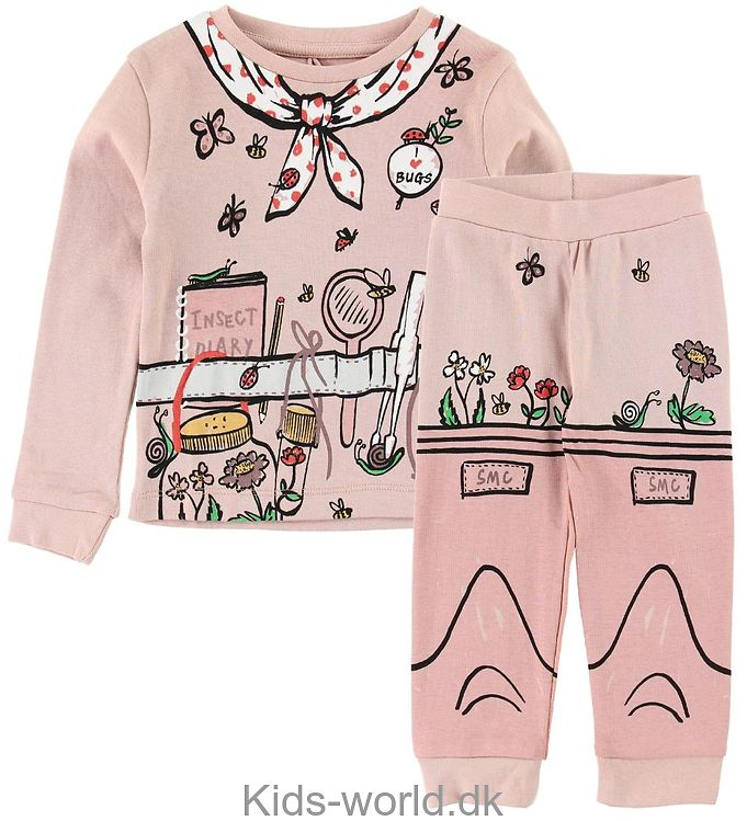 Stella McCartney Kids Nattøj - Rosa m. Havearbejde