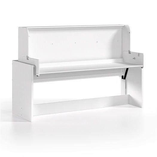 Skrivebordsseng 90 x 200 cm, Denver, Hvid - Vipack