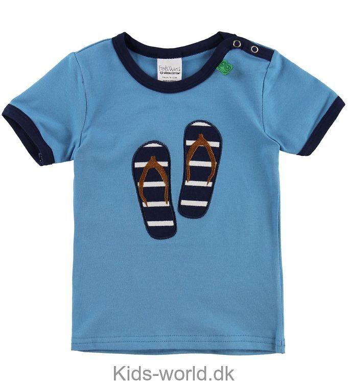 Freds World T-shirt - Blå m. Klip-klapper