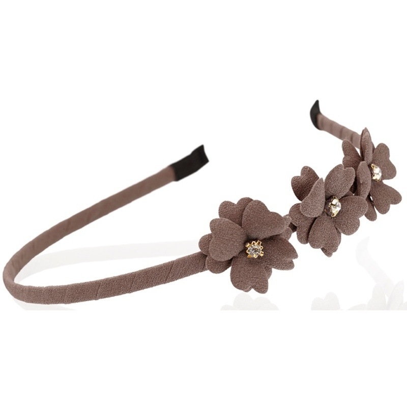 Everneed Mynte Hairband W. Flowers - Mocca (2159)