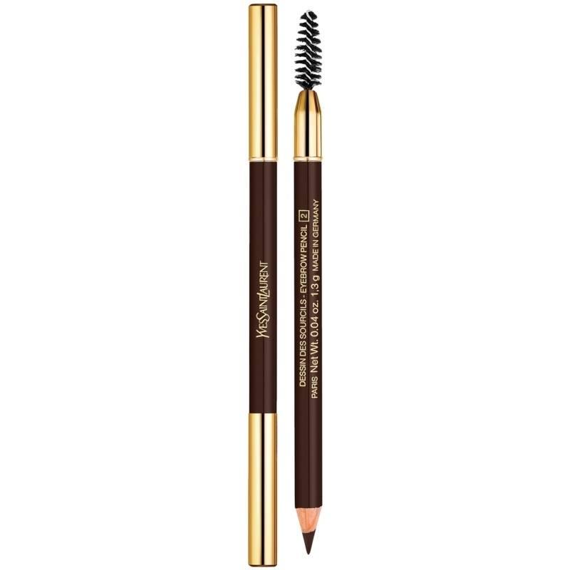 YSL Dessin Des Sourcils Eyebrow Pencil 1,3 gr. - 2 Brun Profond