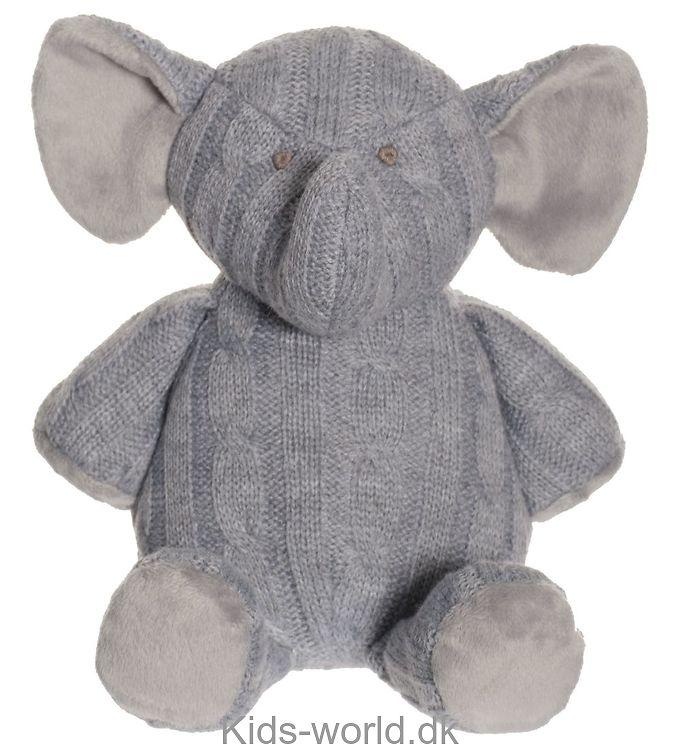 Teddykompaniet Bamse - Elefant - Strik - 25 cm - Grå