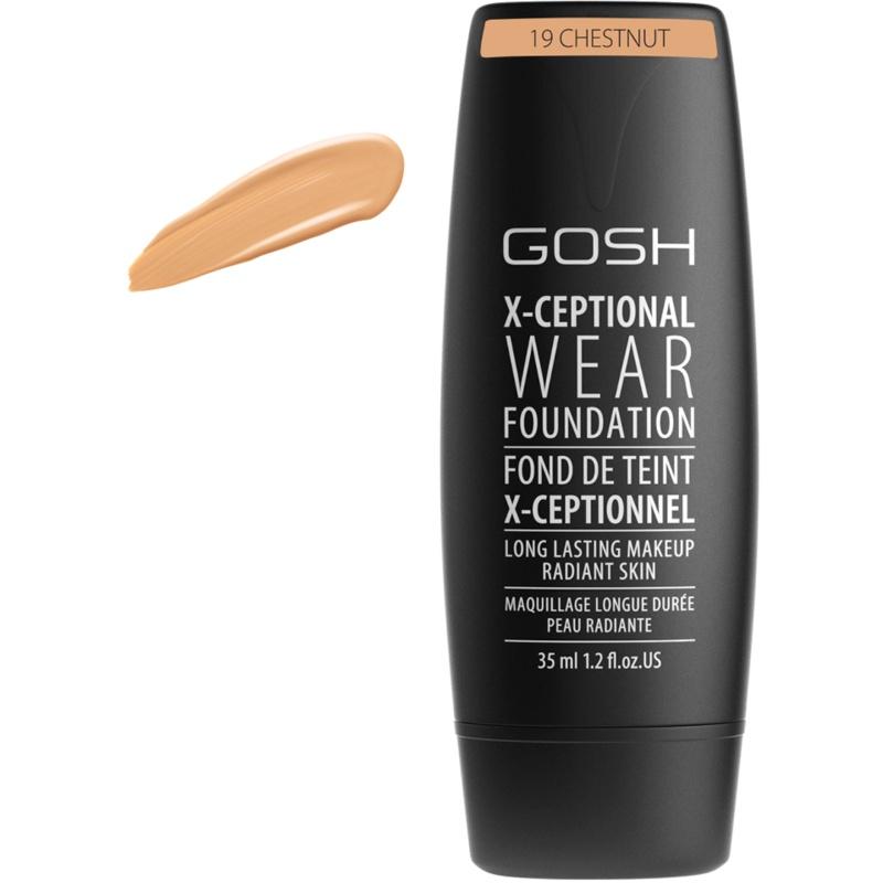Gosh X-Ceptional Wear Foundation 35 ml - 19 Chestnut