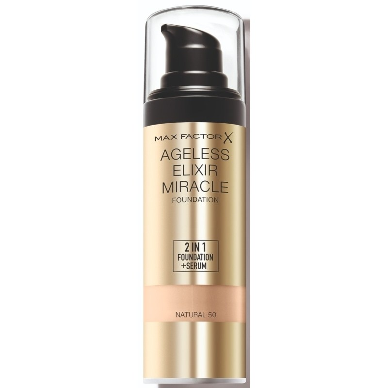 Max Factor Ageless Elixir 2 in 1 Foundation + Serum 30 ml - Natural 050