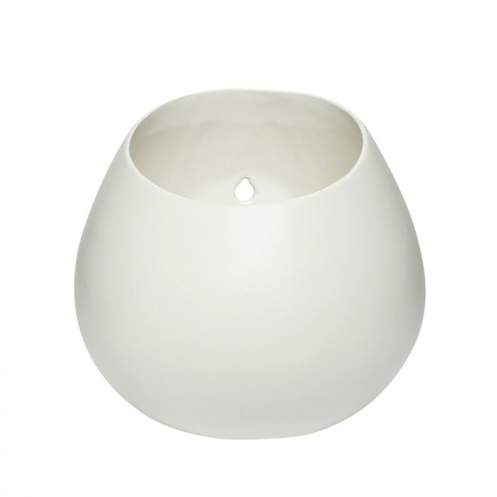 Hübsch potte til vægophæng porcelæn hvid