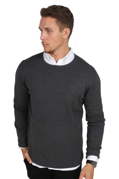 Legends Cofu Pullover Strik Charcoal Melange