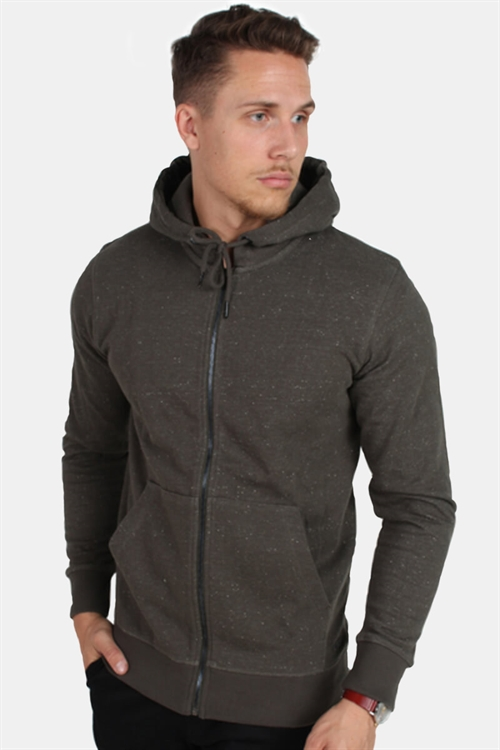 Only & Sons Fiske Zip Hoodie Brushed Deep Depths