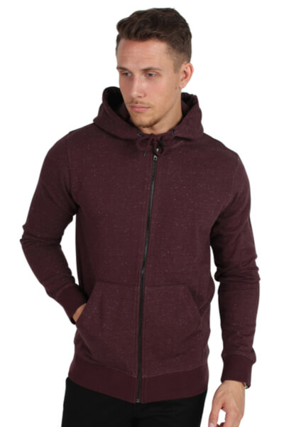 Only & Sons Fiske Zip Hoodie Brushed Fudge