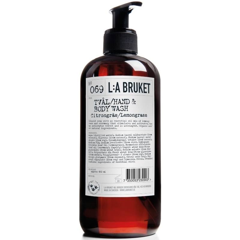 L:A Bruket 069 Hand Soap Lemongrass 450 ml