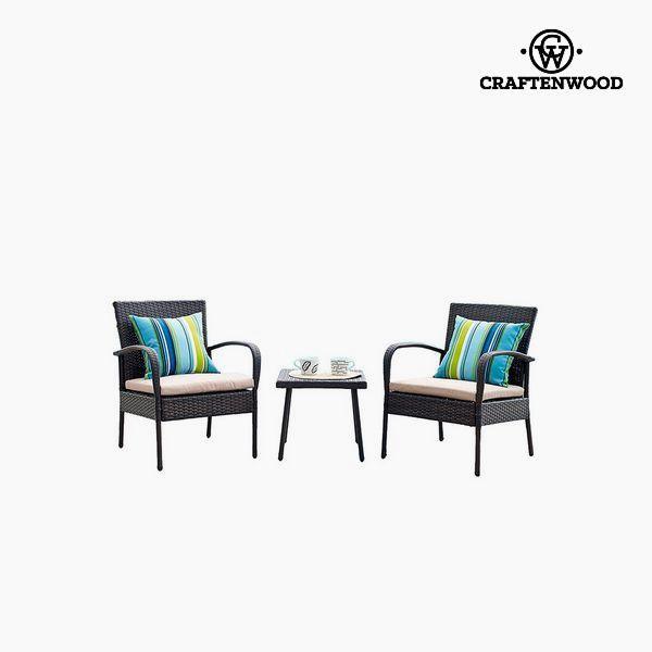 Bord med 2 lænestole (3 pcs)