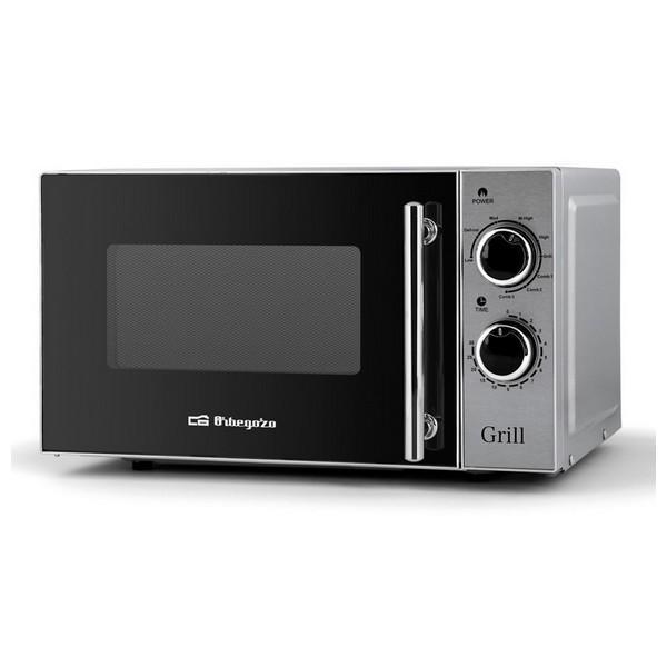 Mikrobølgeovnen med Grill Orbegozo MIG2550 20 L 700W Sølvfarvet