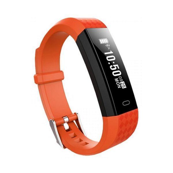 Aktivitetsarmbånd BRIGMTON BSPORT B1 0,87'''' OLED Bluetooth 4.0 IP67 Orange