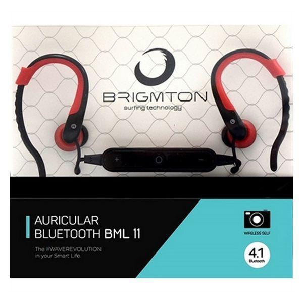 Bluetooth headset med mikrofon BRIGMTON BML-11-R Rød