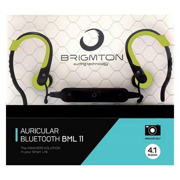 Bluetooth headset med mikrofon BRIGMTON BML-11-V Grøn