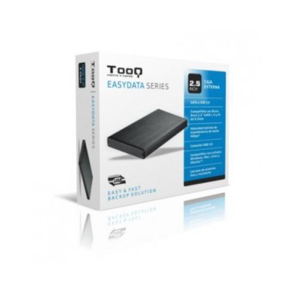Ekstern Boks TooQ TQE-2527B HDD 2.5'''' SATA III USB 3.0 Sort
